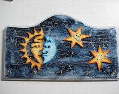 porta chaves sol e lua