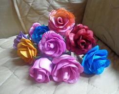 canetas decoradas flores em eva