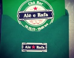 Convite Ch� Bar Heineken