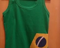 Blusa Regata Bandeira do Brasil