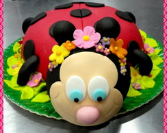 Bolo e Cupcakes Joaninha