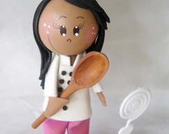 Fofucha Chef de Cozinha Personalizada