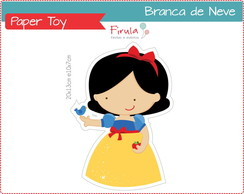 Paper Toy Digital Branca De Neve