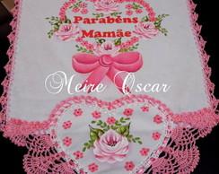 Pano De Copa Cora��o -Parab�ns mam�e