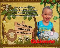 Convite Selva / Saf�ri c/ envelope+selo