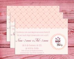 Convite Gatinha Marie