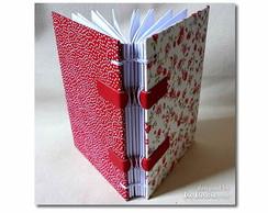 Caderno Floral Vermelho 2