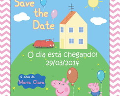 Save the Date Peppa e George
