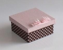 Mini Caixa marrom e rosa