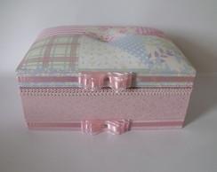 Porta-biju Com 10 Divis�rias rosa