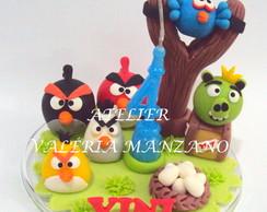 Topo De Bolo Angry Birds