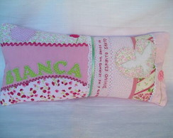 Almofada Personalizada Rosa e Verde