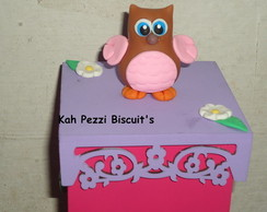 porta incenso de biscuit