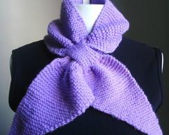 Gola la�o/ gravata, em tricot