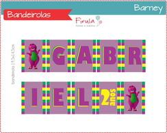 Kit Digital Bandeirolas Barney