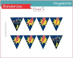 Kit Digital Bandeirolas Vingadores