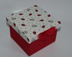 Mini Caixa de tecido Joaninha