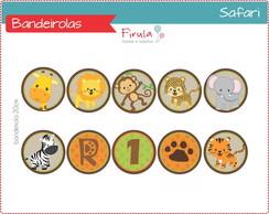 Kit Digital Bandeirolas Safari