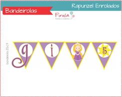 KitDigital Bandeirola Rapunzel Enrolados