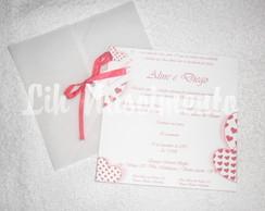 Convite de casamento - Modelo A&D