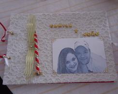 Livro de Assinatura Casamento Rendado