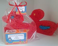 Kit Banho esponja e sabonete caixinha
