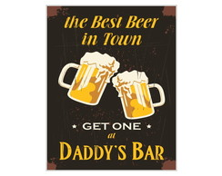 Placa MDF Retr�- Daddy's Bar - 710