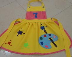 Avental Infantil Pintando o 7 - Amarelo