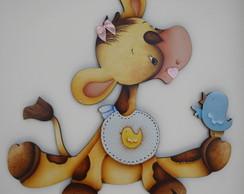 Girafa beb� e seu amigo.