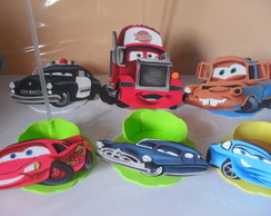 Kit 10 Centros de mesa Carros disney