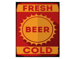 Placa MDF Retr�- Fresh Beer - 715