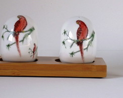 Saleiro e Pimenteiro de Porcelana