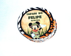 R�tulo circular Safari do Mickey