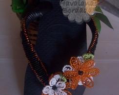 chinela flor