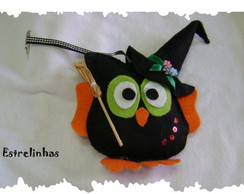 CHAVEIRO - CORUJA DO HALLOWEEN