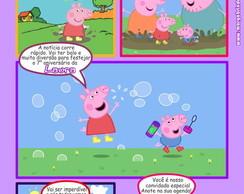 Peppa Pig Convite Gibi