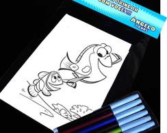 Procurando Nemo Kit Para Colorir