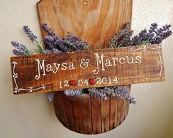 Placas Customizadas Para Casamento XI