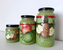 Potes Verdes de Fruta - Craquelados