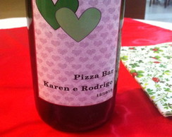 R�tulo de vinho personalizado