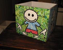 caixa brinquedos falso mosaico