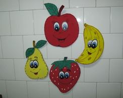 Apliques de Frutas em EVA