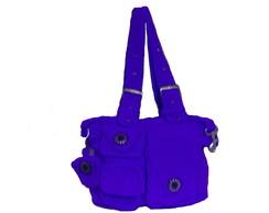 Bolsa Dinha De Croch� - Azul
