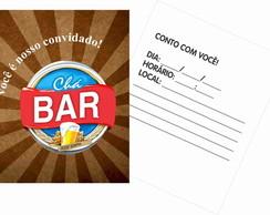30 Convites Ch� Bar - Papel Grosso
