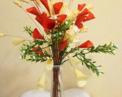 Vaso Com Flores Em Tecido - Pequeno 2