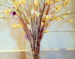 Vaso Com Flores Em Tecido - Grande