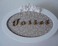 Placa Decorativa Toilet