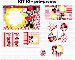 Kit 10 - Pr�-pronto - Minnie