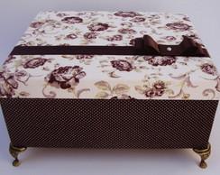 Caixa em Mdf revestida em Tecido Floral
