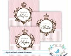 27 Etiquetas Realeza Rosa